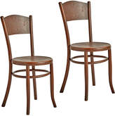 Rejuvenation Pair of Bentwood & Embossed Chairs by Fischel of Austria