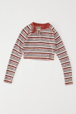 Out From Under Jayla Knit Henley Top - Assorted XS at Urban Outfitters