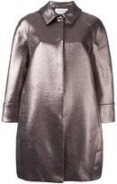 Gianluca Capannolo collared metallic coat - women - Cotton/Acrylic/Nylon/other fibers - 44