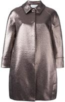 Gianluca Capannolo collared metallic coat