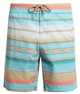 Faherty Geometric-striped print swim shorts