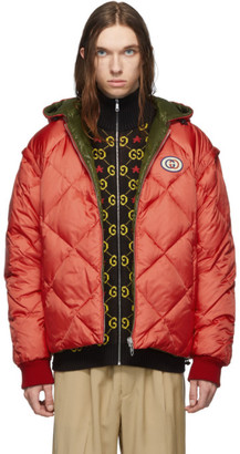 Gucci Reversible Red and Green Down Puffer Jacket