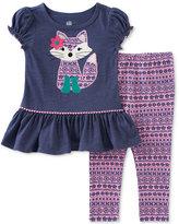 Kids Headquarters 2-Pc. Fox Tunic & Leggings Set, Baby Girls