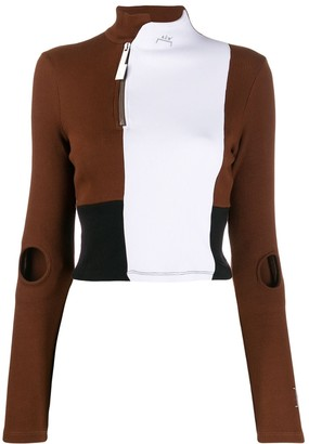 A-Cold-Wall* A Cold Wall* colour block ribbed top