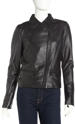 Andrew Marc New York Marc York By Asymmetric Leather Jacket