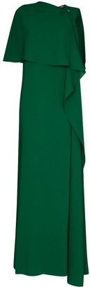 Oscar de la Renta Draped-Detail Evening Gown
