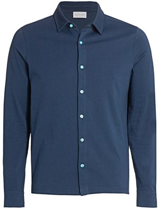 Nominee Long-Sleeve Button-Front Polo