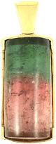 One Kings Lane Vintage Watermelon Tourmaline 14K Gold Pendant