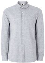 Topman Grey Stand Collar Casual Shirt