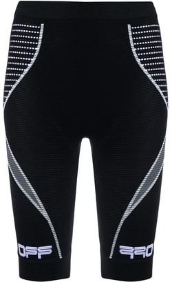 Off-White Wavy Logo Stretch-Fit Cycling Shorts