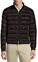 Moncler Acorus Quilted Nylon Puffer Jacket, Black