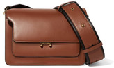 Marni Trunk Medium Leather Shoulder Bag - Tan