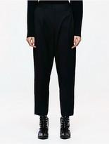 Calvin Klein Platinum Wool Cropped Pants