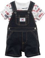 Carter's Baby Boy Fire Truck Tee & Shortalls Set
