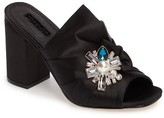 Topshop Women's Regal Brooch Embellished Mule