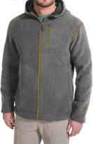 White Sierra Sherpa Hooded Fleece Jacket (For Men)