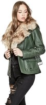 GUESS Women's Debbie Faux-Leather Jacket