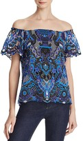 Alice + Olivia Maxie Off-The-Shoulder Top