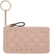 Valentino Pink Rockstud Spike Coin Pouch