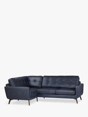 John Lewis & Partners Barbican LHF Corner End Leather Sofa, Dark Leg
