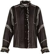 Etoile Isabel Marant Lauryn ruffle-trimmed embroidered cotton blouse