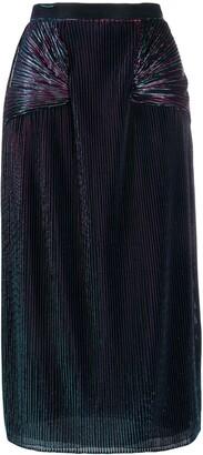 Marco De Vincenzo Metallic Sheen Pleated Skirt