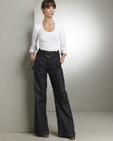 7 for all mankind Belted High-Waist Pants