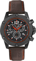 Versus By Versace 45mm Aventura Oversized Chronograph Watch, Black/Black
