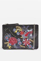 Ester embroidered leather crossbody bag