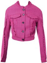 Yang Li button down fitted jacket - women - Polyester/Acetate/Virgin Wool/PBT Elite - 44