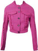 Yang Li button down fitted jacket - women - Polyester/Acetate/Virgin Wool/PBT Elite - 44
