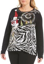 Berek Plus Snowman Festive Winter Sweater
