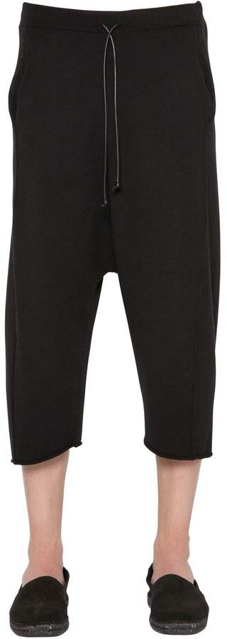 Isabel Benenato Stretch Viscose Knit Cropped Pants