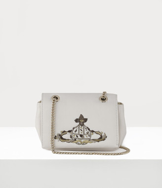 Vivienne Westwood Bridal Small Purse With Chain Ivory