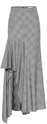 Alexander McQueen Asymmetric wool midi skirt