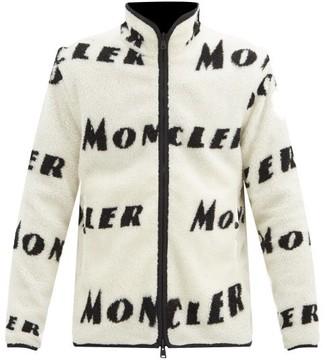 Moncler Reversible Logo-print Fleece Zip-through Jacket - Cream