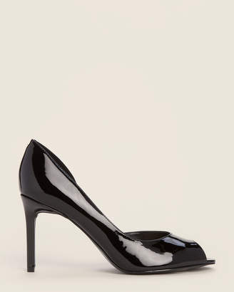 Nine West Black Chance dOrsay Patent Pumps
