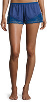 Cosabella Cosmopolitan Lace-Trimmed Boxer Shorts, Marine Blue