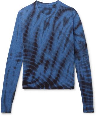 The Elder Statesman Tie-Dyed Cashmere Sweater