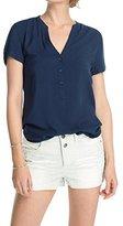 Esprit edc by Women's Short Sleeve Blouse - Blue -