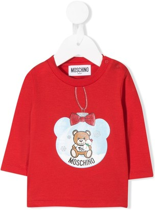 MOSCHINO BAMBINO Teddy snow globe top