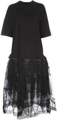 Simone Rocha Tutu T-shirt Dress W/embroidered Overlay