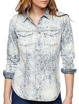 i jeans by Buffalo Lace-Print Denim Shirt