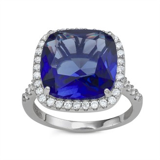 Sterling Silver Bold Sim Sapphire Ring By Gioelli