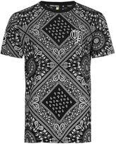 Criminal Damage Black And White Diamond T-shirt