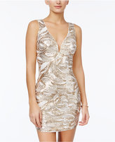 As U Wish Juniors' Sequin Swirl Bodycon Dress