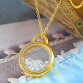 Otis Jaxon Silver Jewellery Diamond Crystal Silver And Gold Shaker Locket Necklace