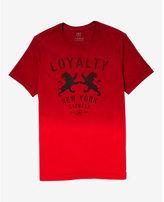 Express dip dye loyalty lion graphic t-shirt