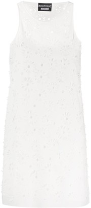 Boutique Moschino Floral Cut-Out Shift Dress