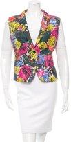 Dries Van Noten Floral Print Pleated Vest